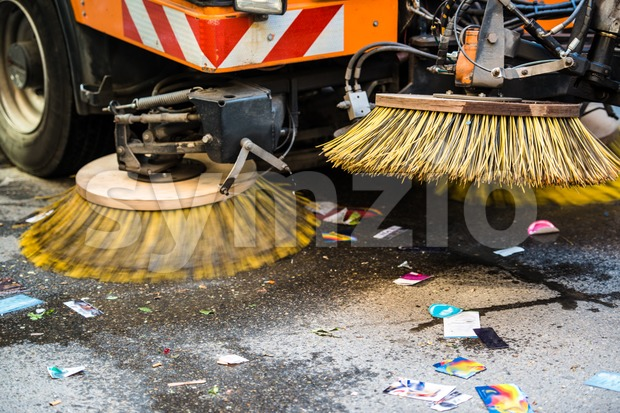 Road Sweeper Stock Photo