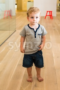 Young  Boy in Kindergarten Stock Photo