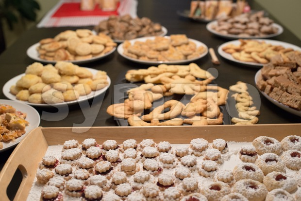 Christmas cookies assortment Stock Photo