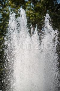 Fountain in summer Stock Photo