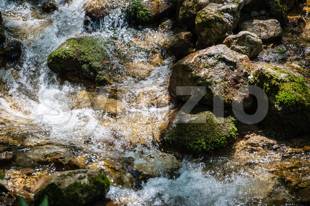 Waterfall in Bavarian Alps Stock Photo