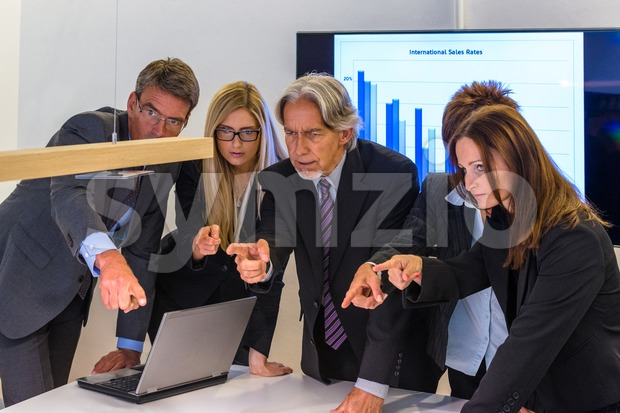 Fingerpointing in the office Stock Photo