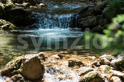 Waterfall in Bavarian Alps Stock Photo