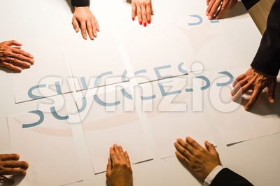 Teamwork means Success - BUT Stock Photo