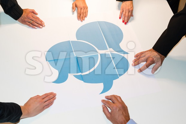 Communication - speech bubbles Stock Photo