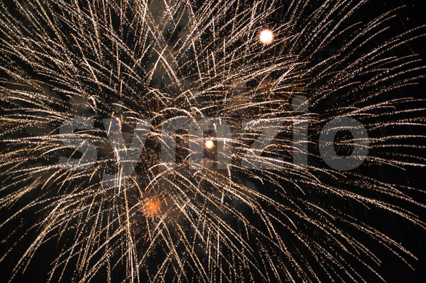 Colourful Fireworks Stock Photo