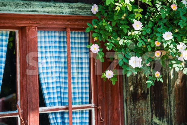 Bavarian alpine cottage Stock Photo