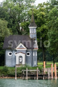 Chapel at lake Chiemsee in Bavaria, Germany Stock Photo