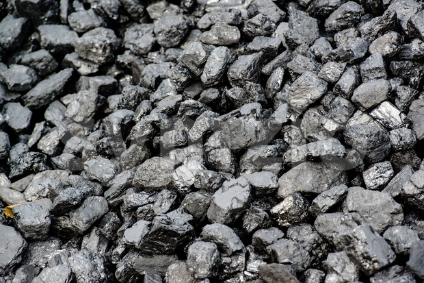 Pile Of Black Coal Stock Photo