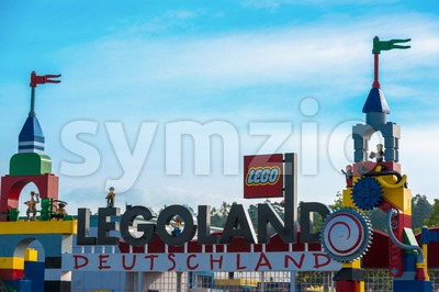 Legoland entrance Stock Photo
