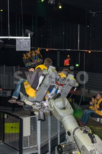 Rollercoaster Robots Stock Photo