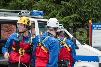 Search and rescue team Stock Photo