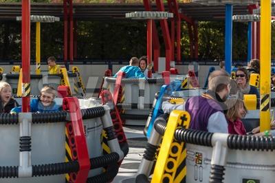 Colorful carousel in Legoland Stock Photo