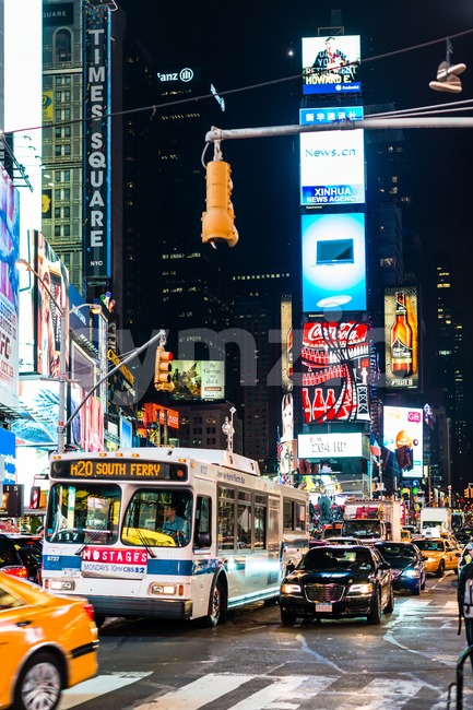New York Times Square Stock Photo