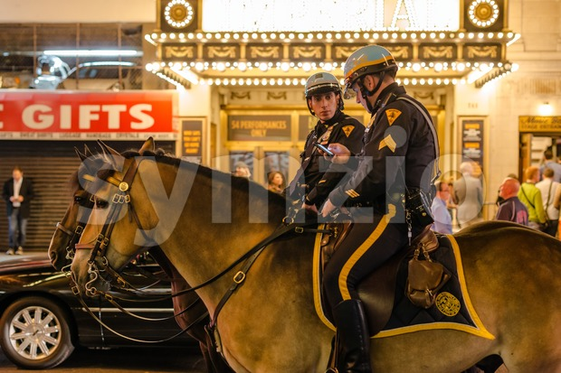 New York police on horseback Stock Photo