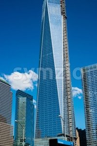 9/11 Memorial Site Stock Photo