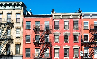 Typical New York Facades Stock Photo