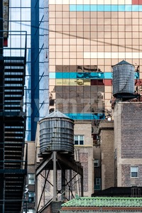 Typical New York Facades Stock Photo