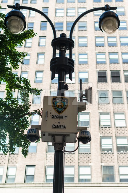 NYPD security camera Stock Photo