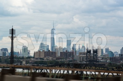 New York City Manhattan skyline Stock Photo