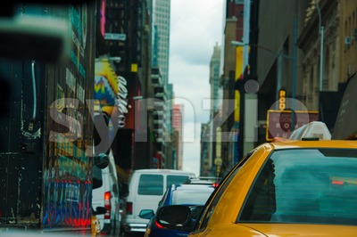 Typical New York downtown scene Stock Photo