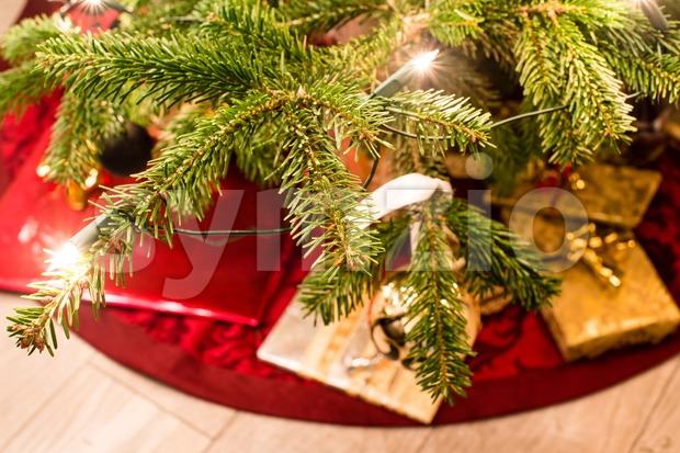 Presents under the christmas tree Stock Photo