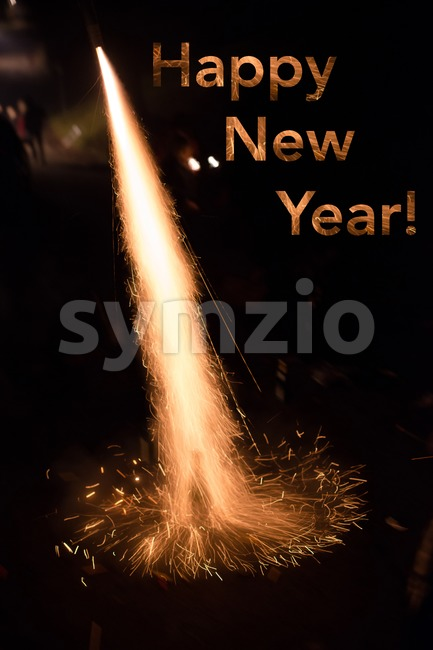 Happy New Year Stock Photo