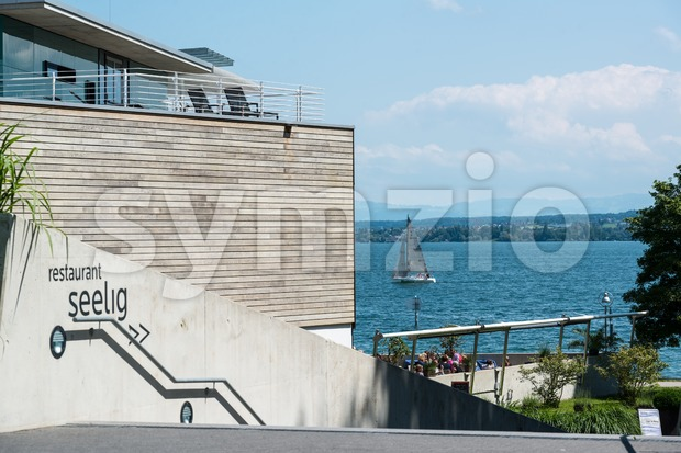 Thermal bath of Konstanz at Lake Constance Stock Photo