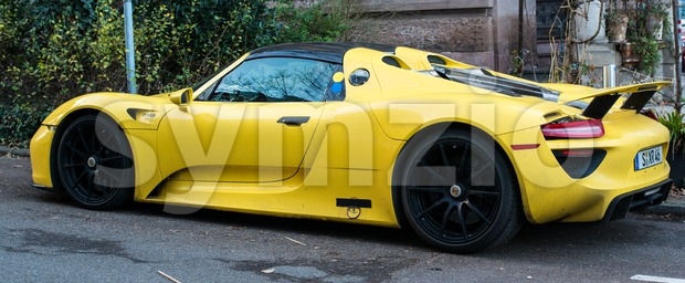 New Porsche 918 Spyder Prototype Stock Photo