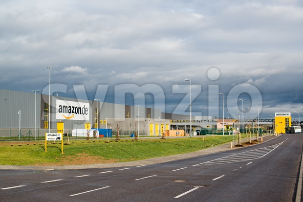 PFORZHEIM - DECEMBER 27, 2012: The newly opened warehouse of retailer amazon.de, the German subsidiary of amazon.com on December 27, ...