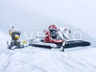 Snow grooming equipment Stock Photo