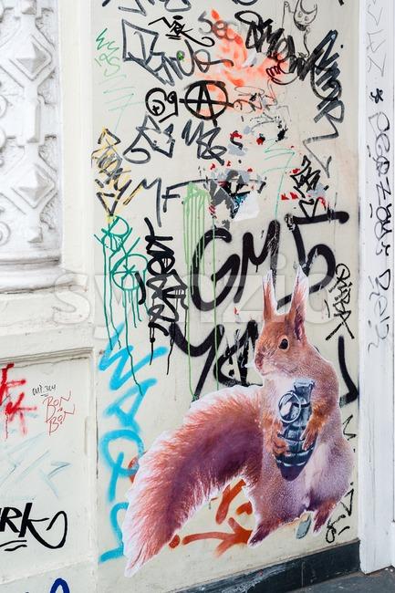 Street Art in Hamburg Stock Photo