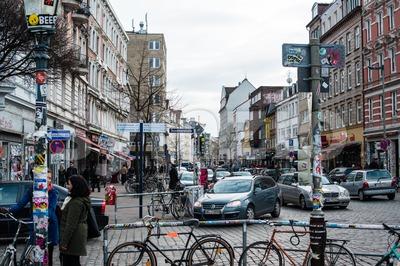 Schanzenviertel in Hamburg, Germany Stock Photo