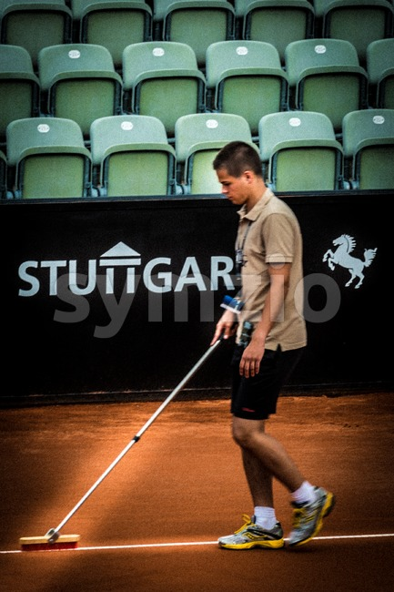 Preparation during ATP Qualification in Stuttgart, Germany Stock Photo