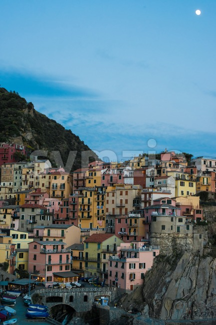 Manarola town at Cinque Terre national park in Italy Stock Photo