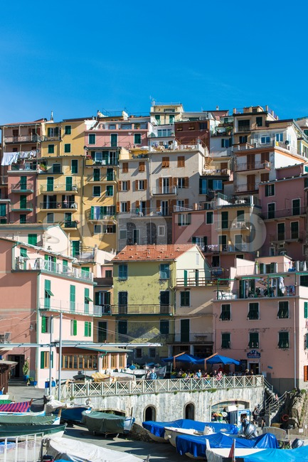 Manarola town at Cinque Terre national park. Italy Stock Photo