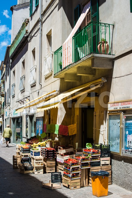 Italian greengrocer in small village Stock Photo
