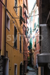 Alleys of Vernazza, Cinque Terre, Italy Stock Photo