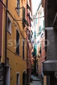 Alleys of Vernazza, Cinque Terre, Italy Stock Photo