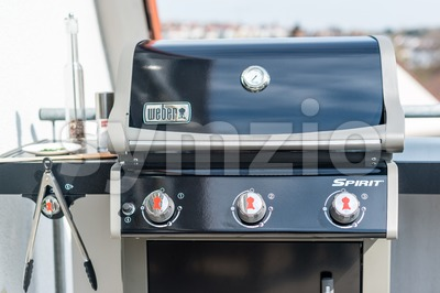 Weber Gas Grill Spirit E-320 (model 2014) Stock Photo