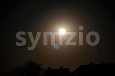 Two Moons Stock Photo