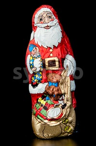 Chocolate Santa Claus Stock Photo