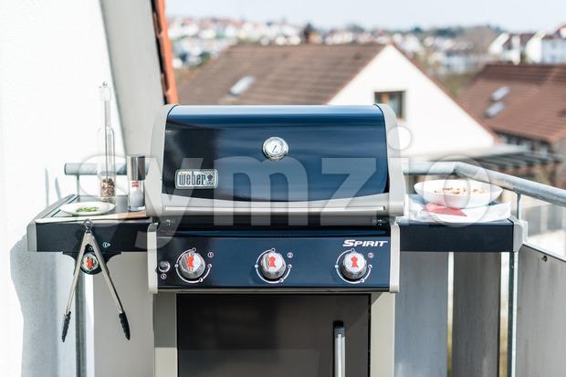Weber Gas Grill Spirit E-320 (model 2014) Stock Photo