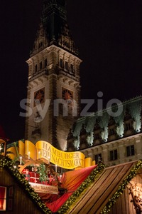 traditional christmas market in Hamburg, Germany Stock Photo