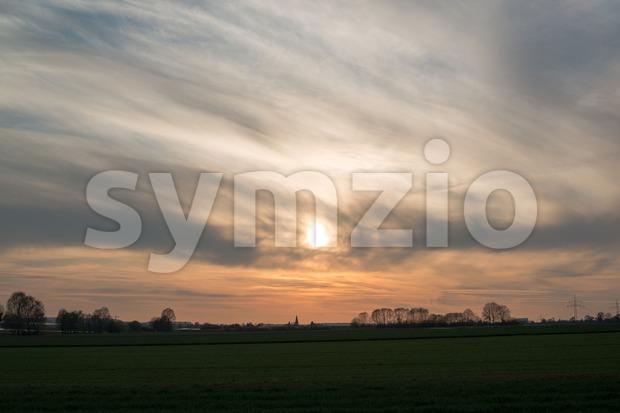 Spring sunset Stock Photo