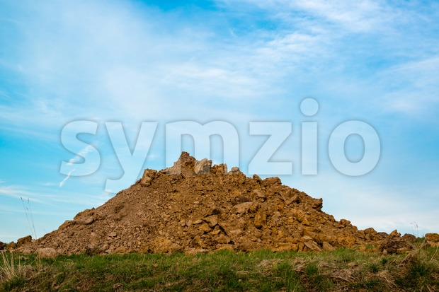 A pile of dirt Stock Photo