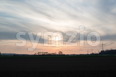 Spring sunset Stock Photo