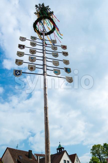 Traditional Maypole Stock Photo