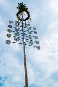 Traditional Maypole Stock Photo