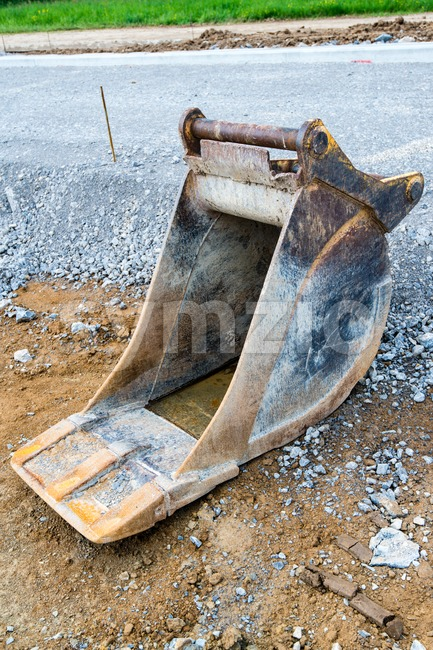Spare shovel of an excavator Stock Photo